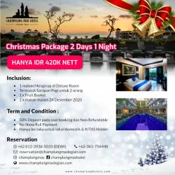 Christmas Package 2day 1night No Transport